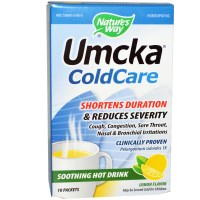 Nature's Way, Umcka, ColdCare, Soothing Hot Drink, Lemon Flavor, 10 Packets