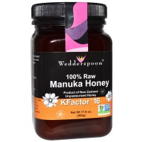 Wedderspoon Organic, Inc., 100% Raw Manuka Honey, KFactor 16, 17.6 oz (500 g)